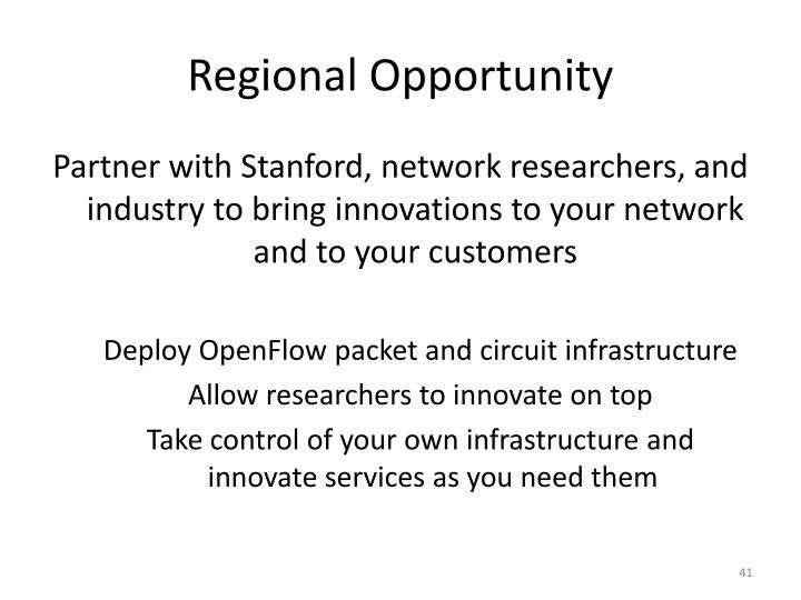 Regional Opportunity