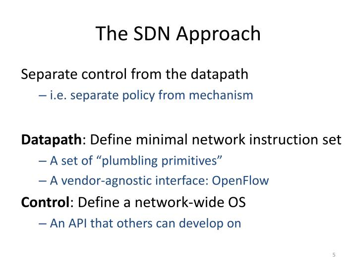 The SDN Approach