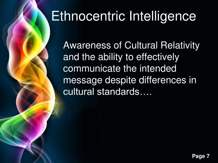 Ethnocentric Intelligence