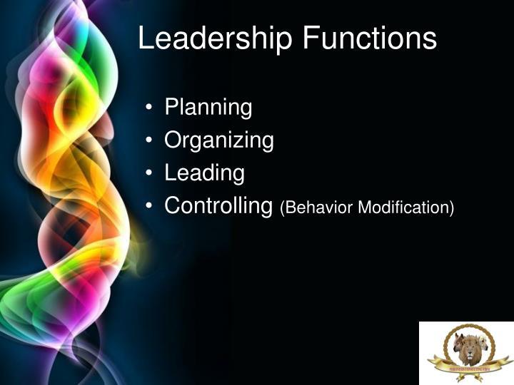 Leadership Functions