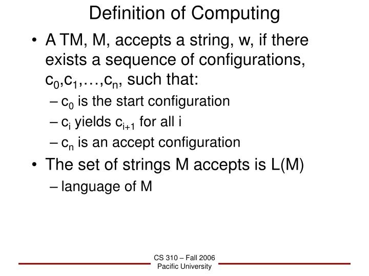 Definition of Computing