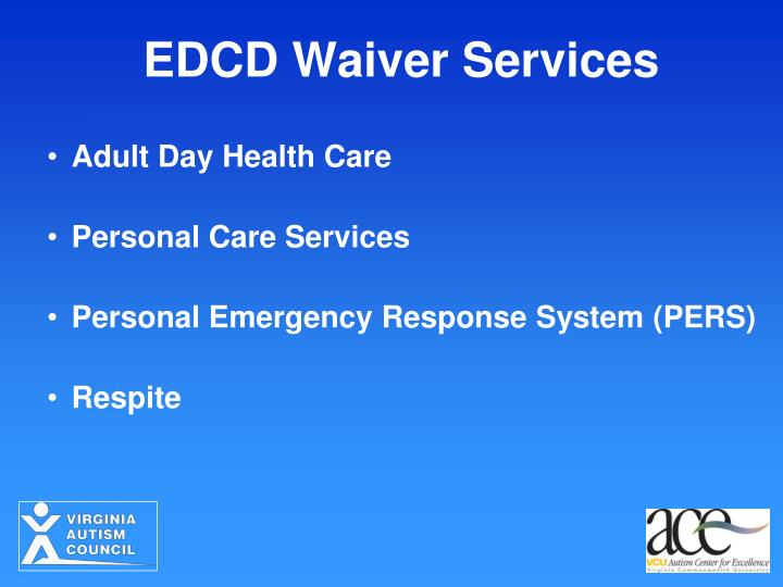 EDCD Waiver Services