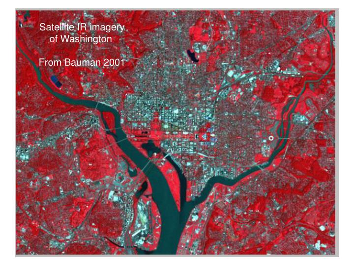 Satellite IR imagery      of Washington