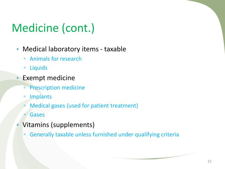 Medicine (cont.)