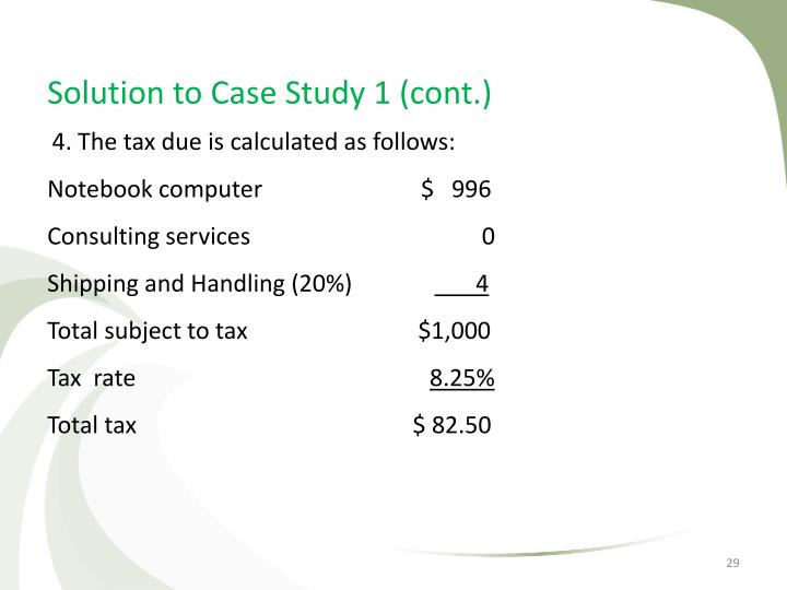 Solution to Case Study 1 (cont.)