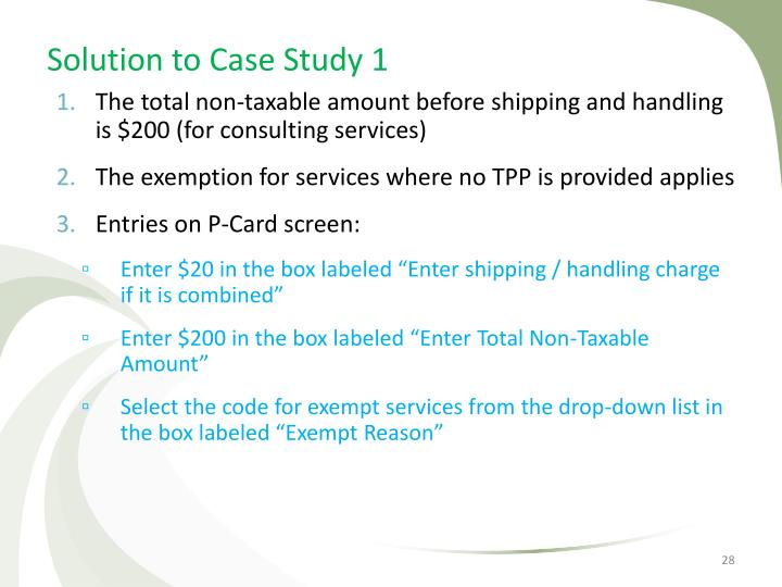 Solution to Case Study 1