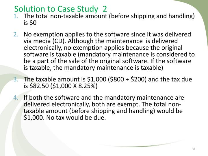 Solution to Case Study  2
