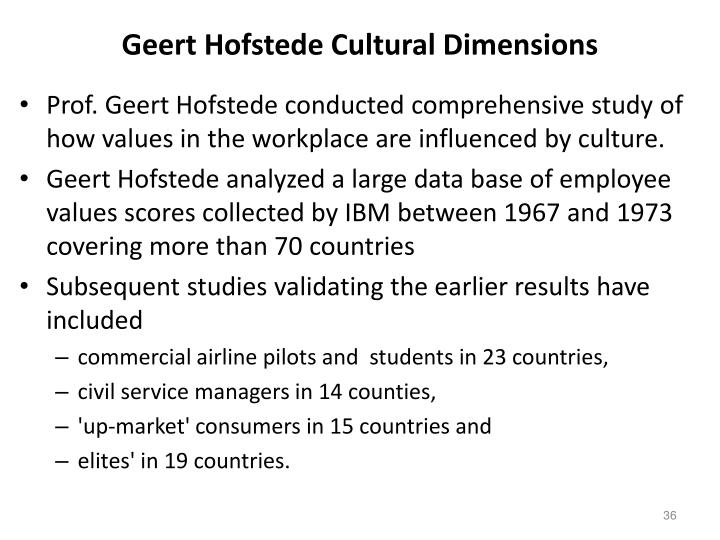 geert hofstede cultural dimensions analysis Critical analysis of hofstede of culture (1993) there are seven dimensions which shtml   http.