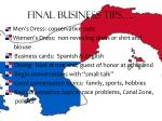 final business tips