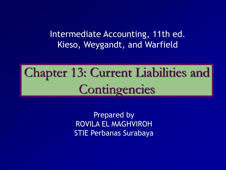 chapter 13 current liabilities and contingencies