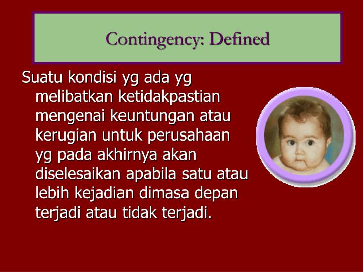 Contingency: Defined