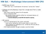 hw sol multistage interconnect nw cpu
