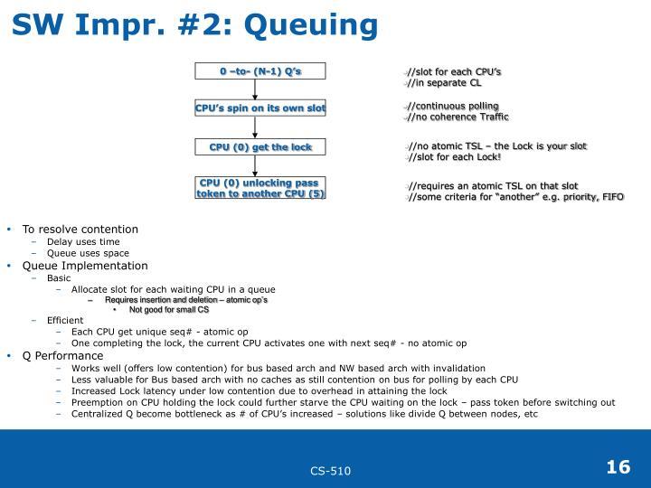 SW Impr. #2: Queuing