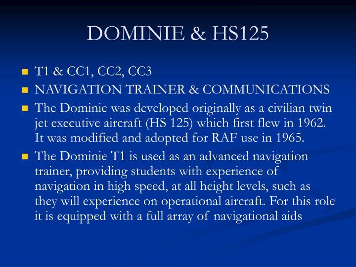 DOMINIE & HS125