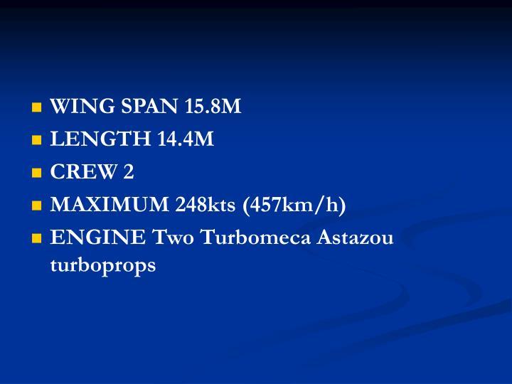 WING SPAN 15.8M