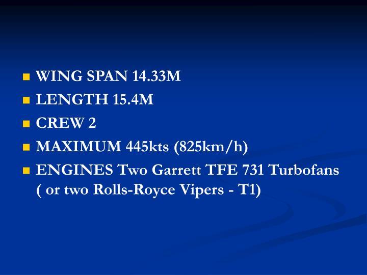 WING SPAN 14.33M