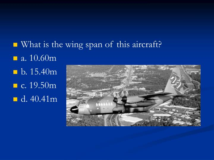 What is the wing span of this aircraft?