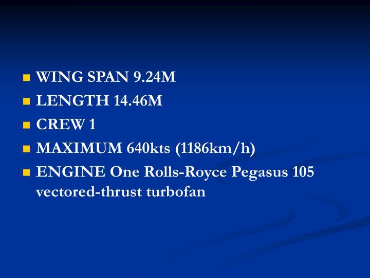 WING SPAN 9.24M