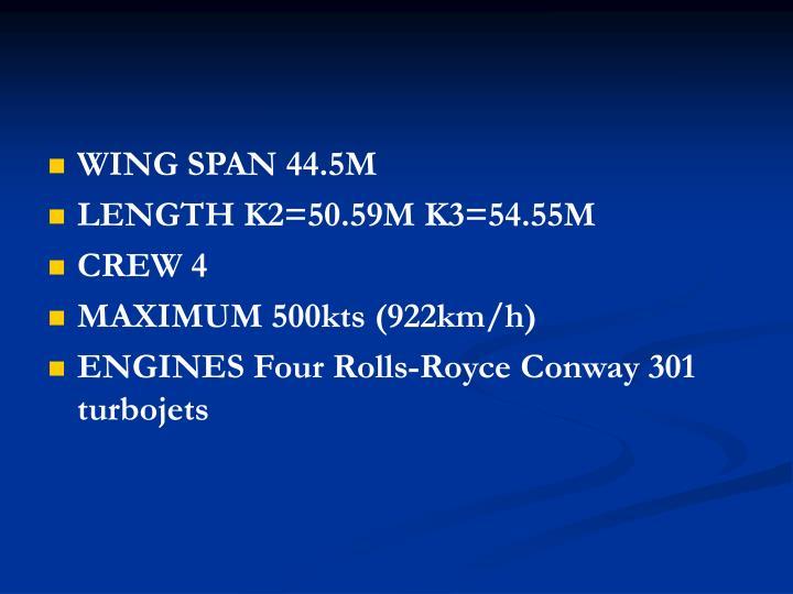 WING SPAN 44.5M