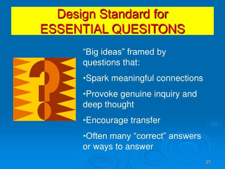 Design Standard for