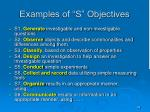 examples of s objectives