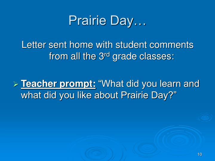 Prairie Day…