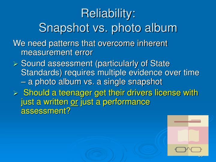 Reliability: