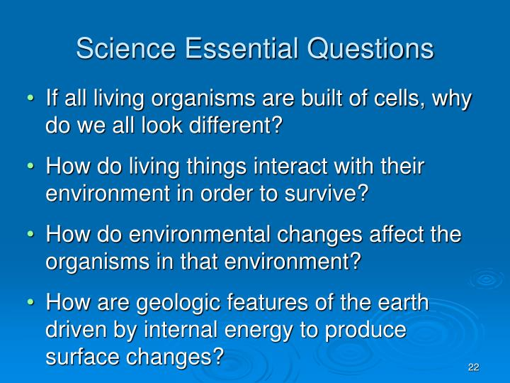 Science Essential Questions