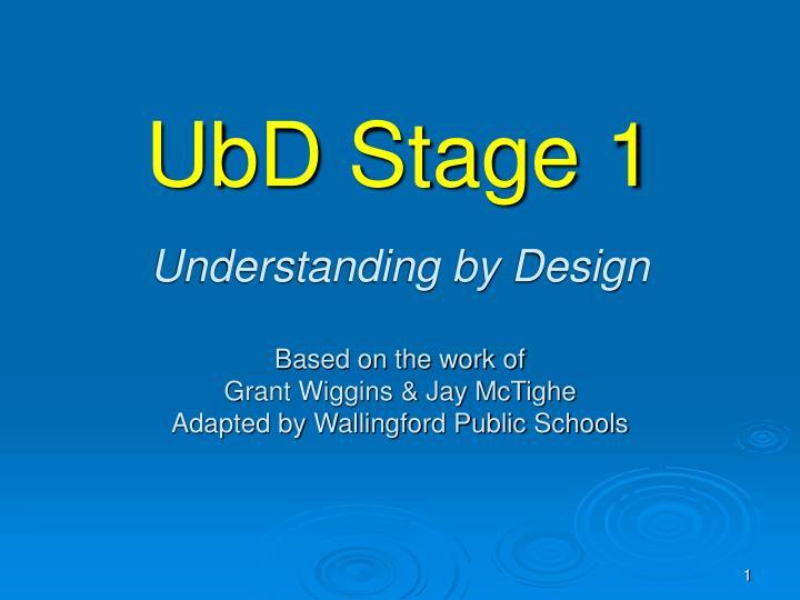 UbD Stage 1