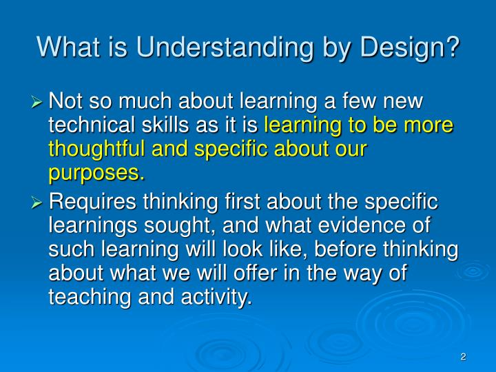 What is Understanding by Design?