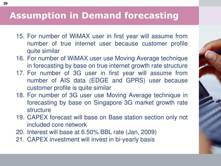 Assumption in Demand forecasting