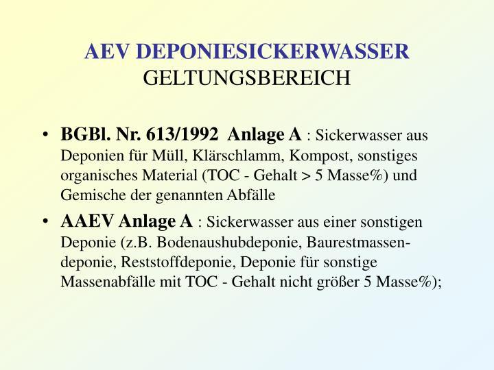 AEV DEPONIESICKERWASSER