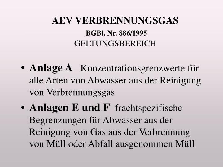 AEV VERBRENNUNGSGAS