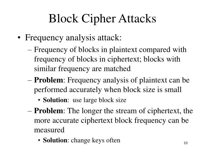 Block Cipher Attacks