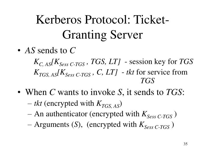 Kerberos Protocol: Ticket-Granting Server