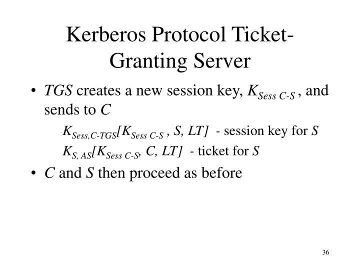 Kerberos Protocol Ticket-Granting Server