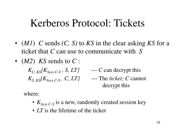 Kerberos Protocol: Tickets