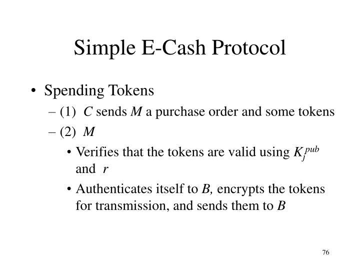 Simple E-Cash Protocol