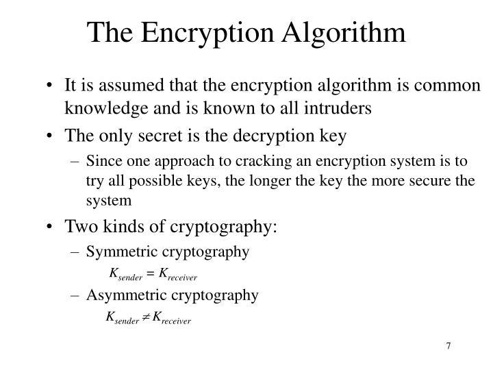 The Encryption Algorithm