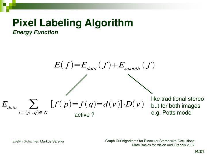Pixel Labeling Algorithm