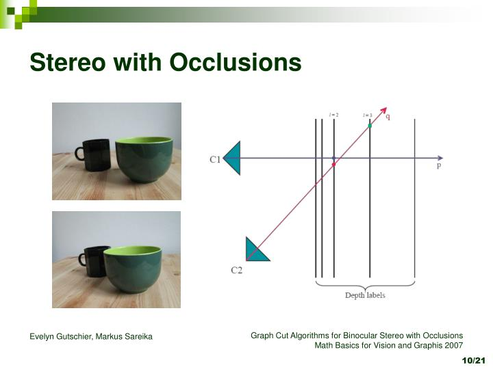 Stereo with Occlusions