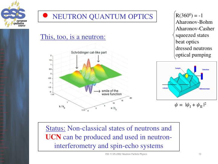 NEUTRON QUANTUM OPTICS