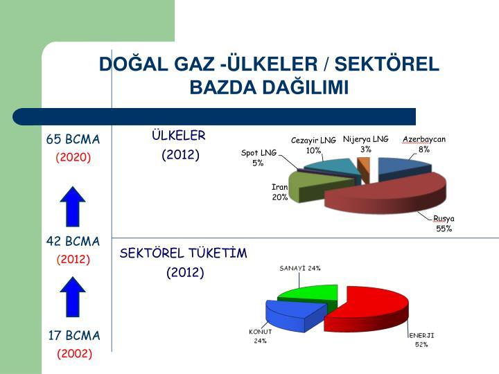 DOĞAL GAZ -ÜLKELER / SEKTÖREL