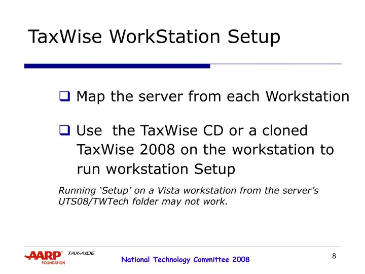 TaxWise WorkStation Setup