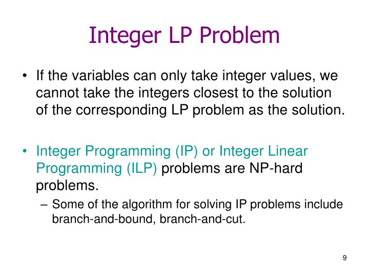 Integer LP Problem