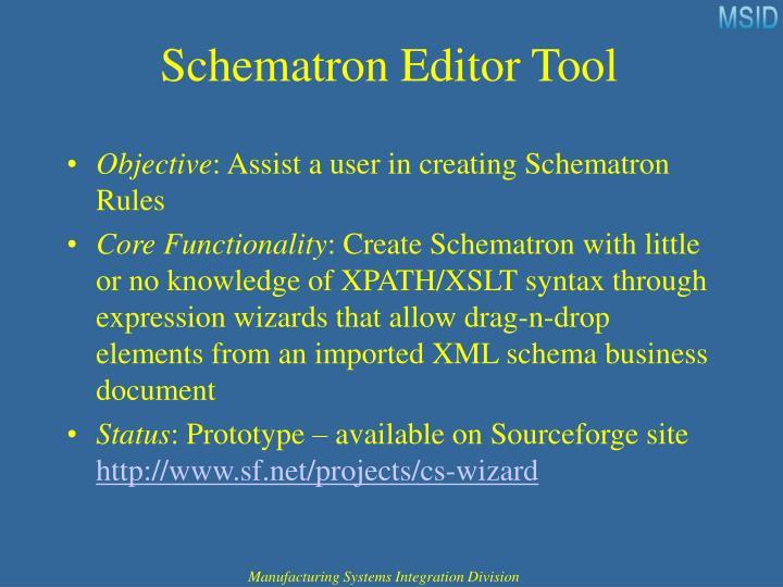 Schematron Editor Tool