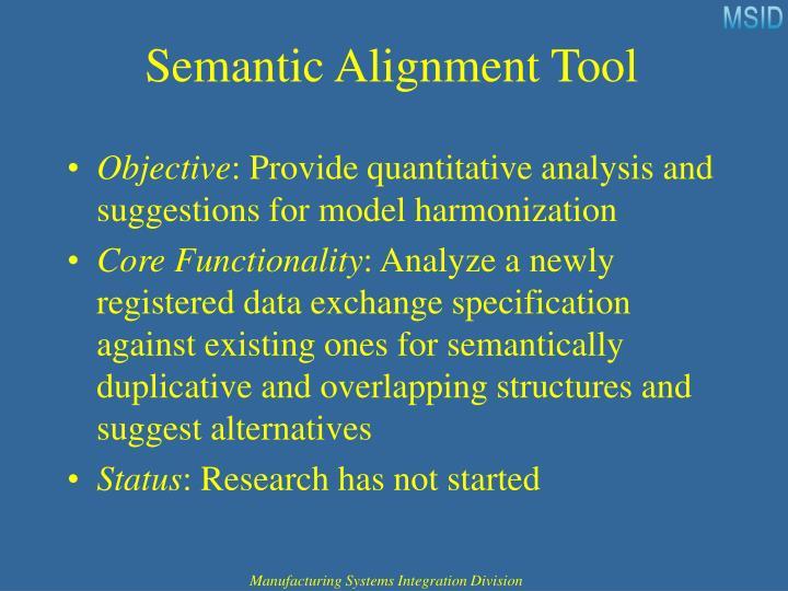 Semantic Alignment Tool