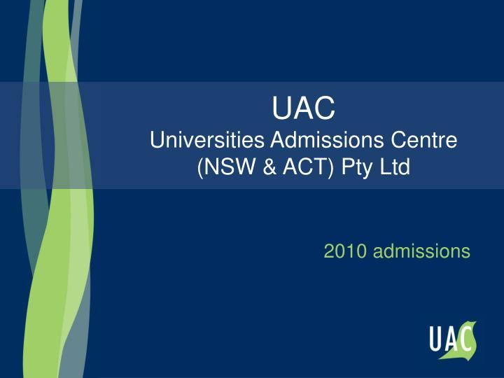 2010 admissions
