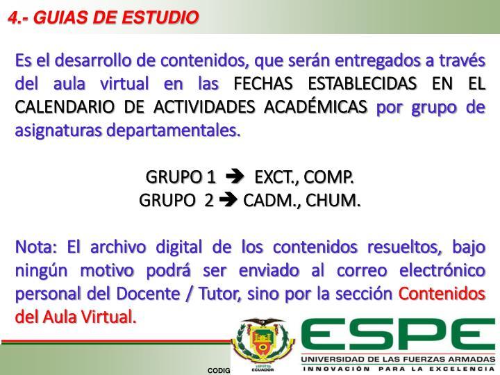 4.- GUIAS DE ESTUDIO