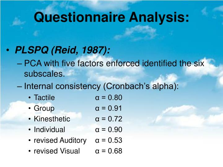 Questionnaire Analysis: